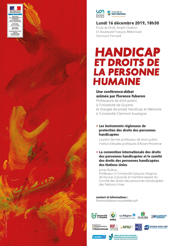 Affiche - Handicap et droits de la personne humaine