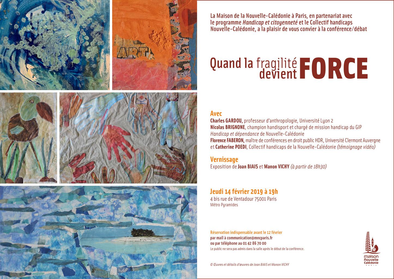 """Carton invitation """"Quand la fragilité devient force"""""""