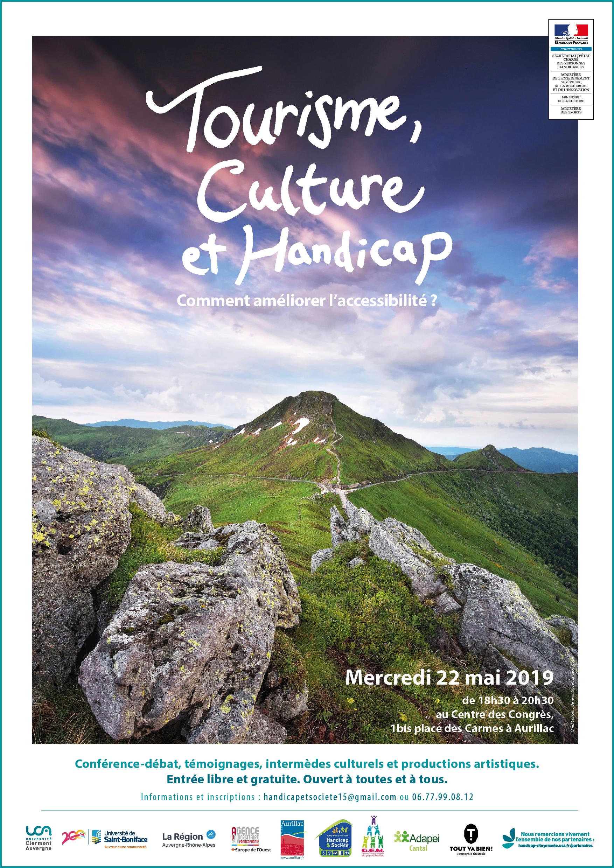 Affiche : Tourisme, culture et handicap
