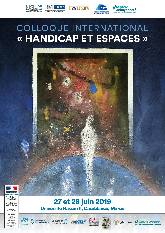 """Affiche """"Handicap et espaces"""""""