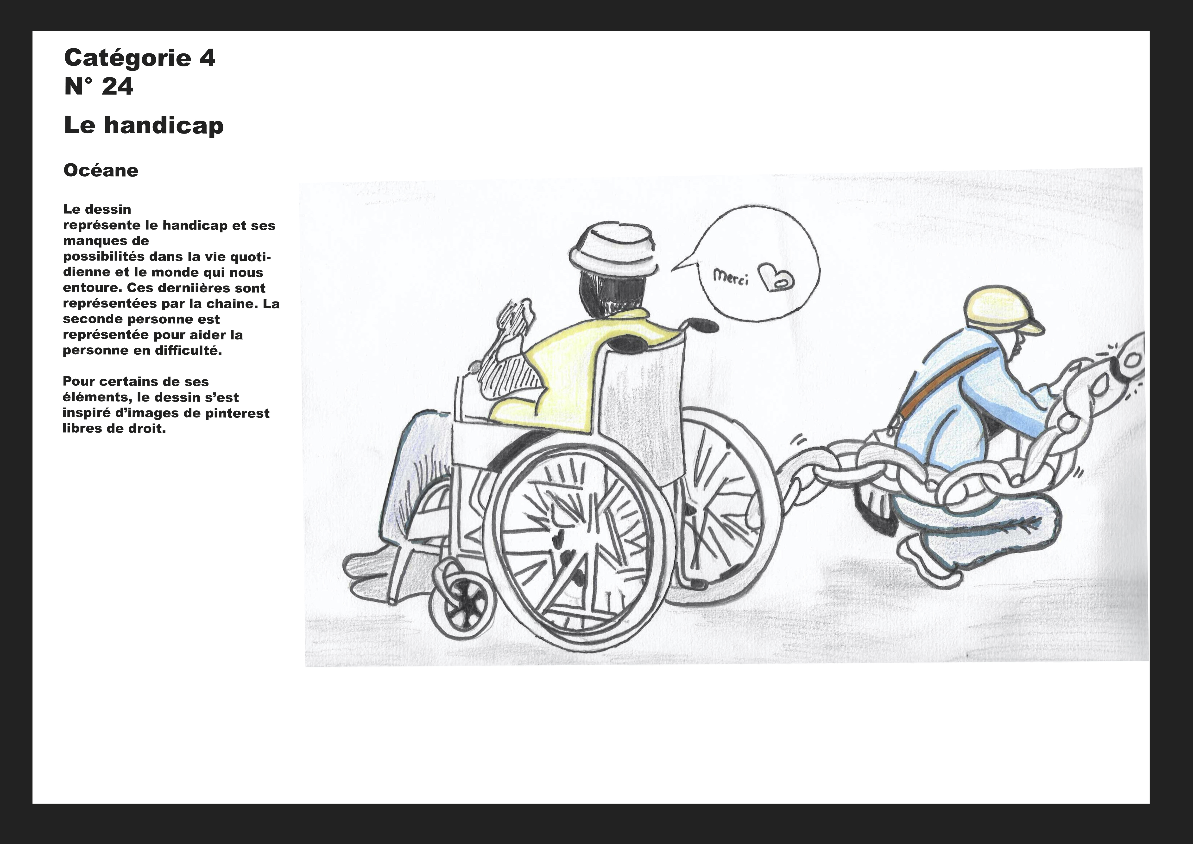 Le handicap - choix numéro trois - Océane